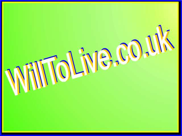 Welcome to the Will to Live Campaign site. Click here to continue
